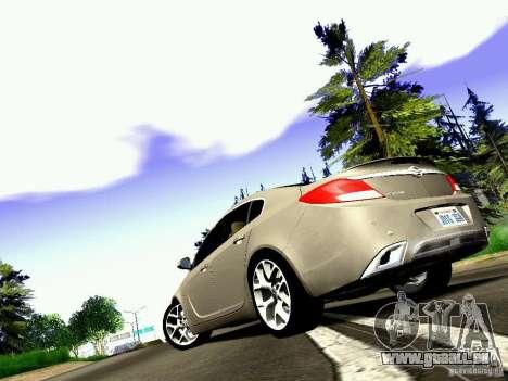 Opel Insignia für GTA San Andreas Rückansicht
