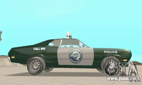 Plymouth Duster 340 Police für GTA San Andreas rechten Ansicht