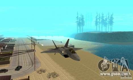 F-22 Grey pour GTA San Andreas vue intérieure