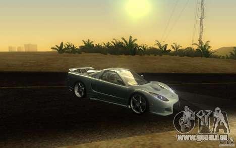 Honda NSX VeilSide Fortune pour GTA San Andreas vue de dessus