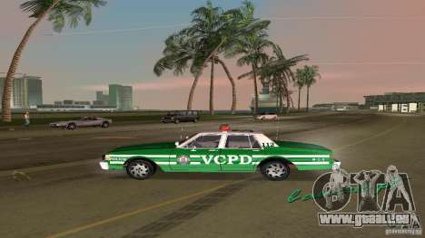 Ford LTD Crown Victoria 1985 Interceptor LAPD pour une vue GTA Vice City de la droite
