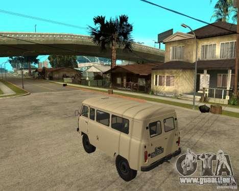 UAZ 2206 pour GTA San Andreas laissé vue