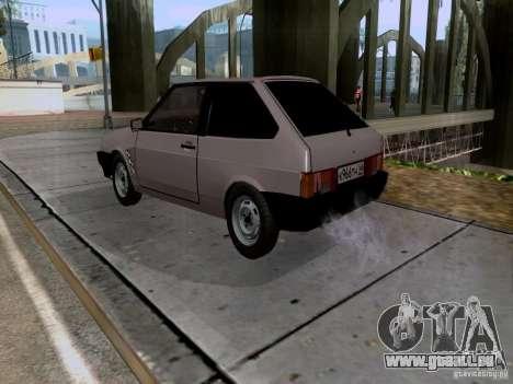 Drain de VAZ 2108 pour GTA San Andreas laissé vue