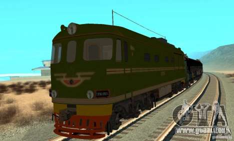 Custom Graffiti Train 1 pour GTA San Andreas laissé vue