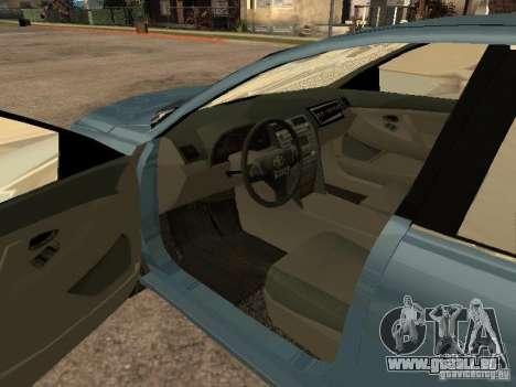 Toyota Camry 2009 für GTA San Andreas zurück linke Ansicht
