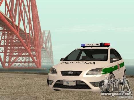 Ford Focus ST Policija für GTA San Andreas Seitenansicht