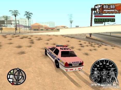 Ford Crown Victoria Police für GTA San Andreas linke Ansicht
