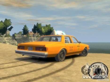 Chevrolet Impala taxi 1983 pour GTA 4 est un droit