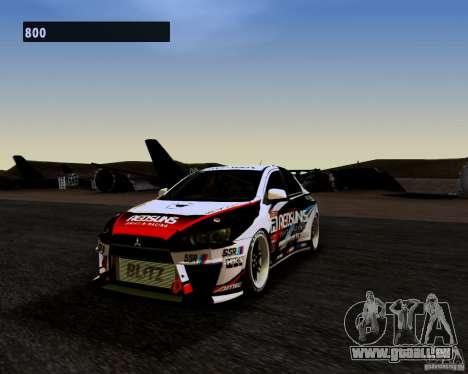 Mitsubishi Lancer Evo X 2008 pour GTA San Andreas