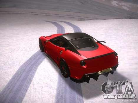 Ferrari 599XX pour GTA San Andreas vue de droite