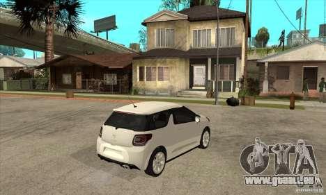 Citroen DS3 2010 pour GTA San Andreas vue de droite