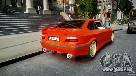 BMW E36 Alpina B8 pour GTA 4 vue de dessus