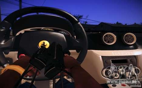 Ferrari 599 GTB Fiorano 2010 pour GTA San Andreas vue intérieure