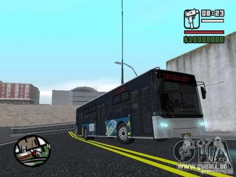 CityLAZ 12 LF pour GTA San Andreas vue arrière