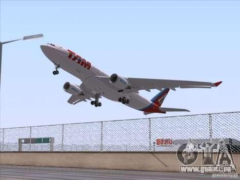 Airbus A330-223 TAM Airlines für GTA San Andreas rechten Ansicht