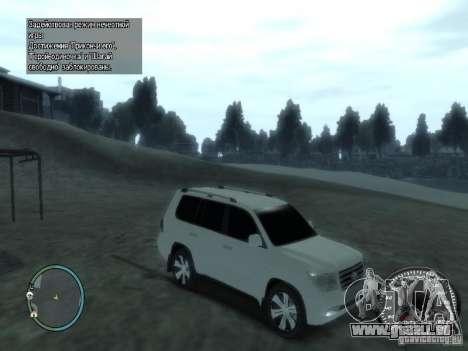 Toyota Land Cruiser 200 FINAL pour GTA 4 est un côté