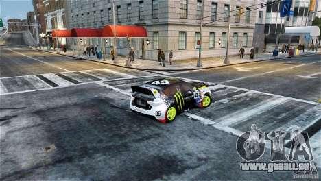 Subaru Impreza WRX STI Rallycross Monster Energy pour GTA 4 est une gauche