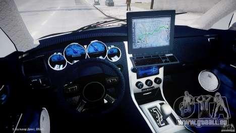 Dodge Charger SRT8 Police Cruiser pour GTA 4 Vue arrière