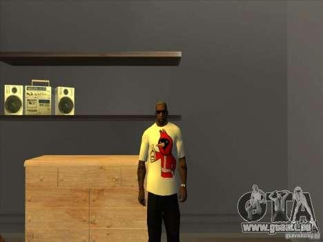 Omsk oiseaux t-shirt pour GTA San Andreas troisième écran