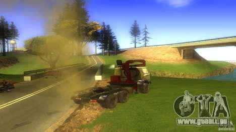 Kamaz pour GTA San Andreas sur la vue arrière gauche