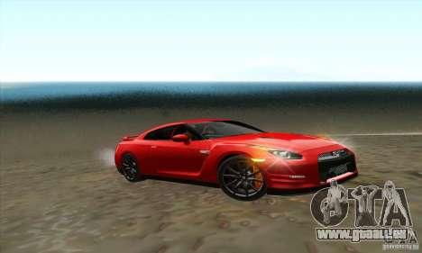 Nissan GT-R R-35 2012 pour GTA San Andreas vue de droite