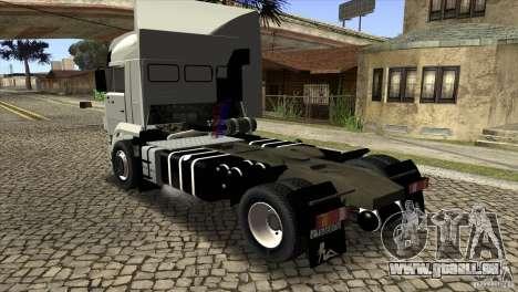 KAMAZ 5460 Euro 3420 Turbo pour GTA San Andreas sur la vue arrière gauche