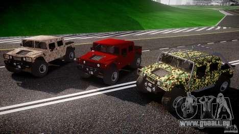 Hummer H1 4x4 OffRoad Truck v.2.0 pour GTA 4 vue de dessus