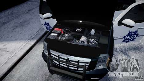 Cadillac Escalade Police V2.0 Final pour GTA 4 est une vue de l'intérieur
