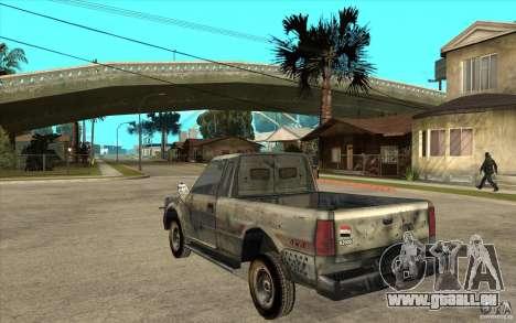 Rusty Mazda Pickup pour GTA San Andreas sur la vue arrière gauche