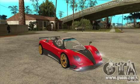 Pagani Zonda Tricolore V1 pour GTA San Andreas vue arrière