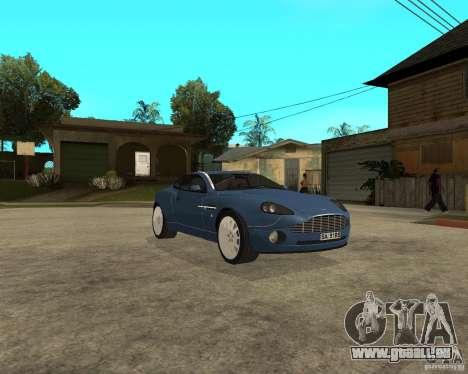Aston Martin Vanquish für GTA San Andreas Rückansicht
