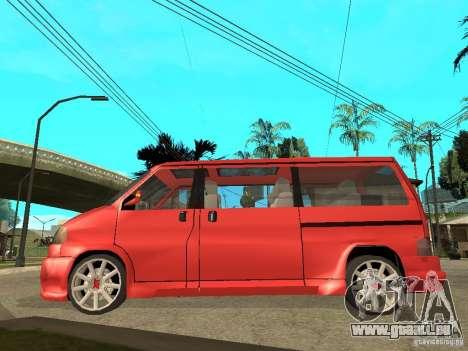 VW T4 Eurovan VR6 BiTurbo 20T pour GTA San Andreas laissé vue