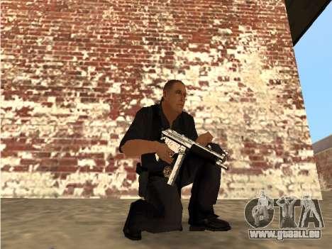 Chrome and Blue Weapons Pack pour GTA San Andreas troisième écran