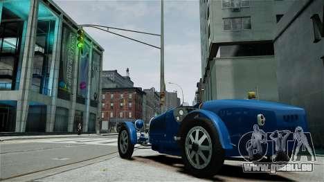 Bugatti Type 35C pour GTA 4 est une vue de l'intérieur