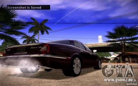 Jaguar Xj8 pour GTA San Andreas sur la vue arrière gauche