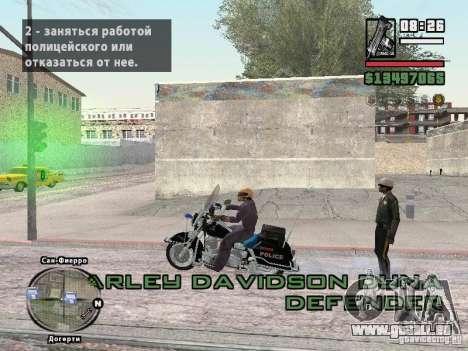 Helmet mod pour GTA San Andreas troisième écran