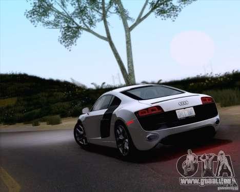 Audi R8 v10 2010 pour GTA San Andreas laissé vue