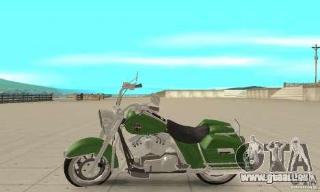 Harley Davidson Road King pour GTA San Andreas laissé vue