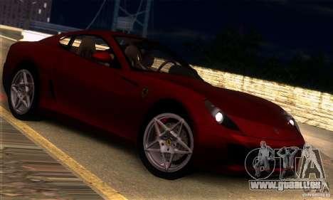 Ferrari 599 GTB Fiorano pour GTA San Andreas vue de droite