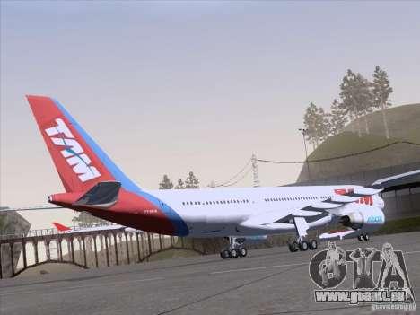 Airbus A330-223 TAM Airlines für GTA San Andreas Innenansicht