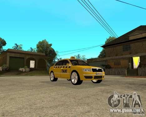 Skoda Superb TAXI cab pour GTA San Andreas vue arrière