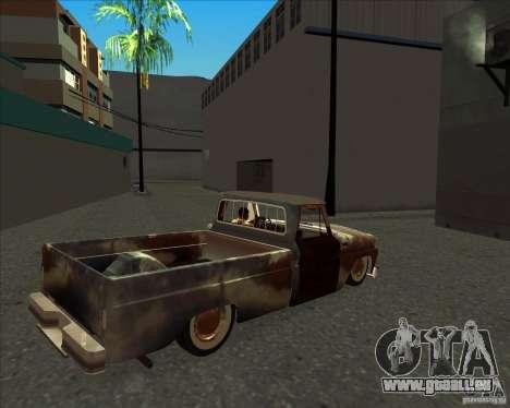 Chevrolet C10 Rat Rod pour GTA San Andreas sur la vue arrière gauche