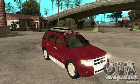 Ford Escape 2009 für GTA San Andreas Rückansicht