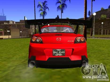 Mazda RX-8 R3 Tuned 2011 für GTA San Andreas Rückansicht