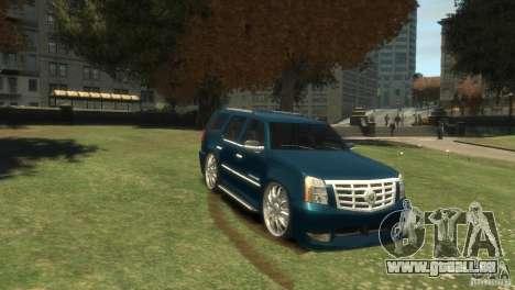 Cadillac Escalade Dub pour GTA 4 Vue arrière
