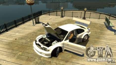 BMW E46 M3 GTR Sport pour GTA 4 Vue arrière