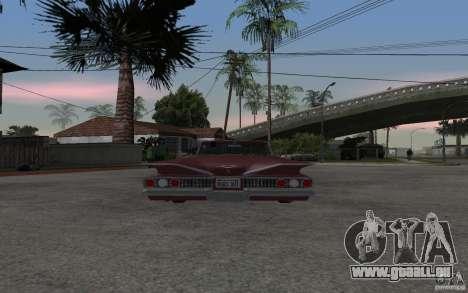 Chevrolet Impala 1960 pour GTA San Andreas sur la vue arrière gauche