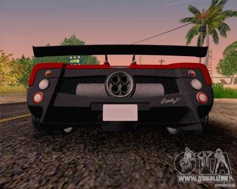 Pagani Zonda F v2 für GTA San Andreas rechten Ansicht