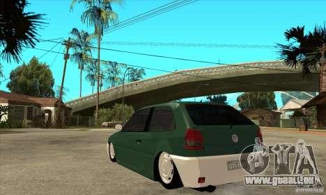 Volkswagen Gol v1 pour GTA San Andreas sur la vue arrière gauche