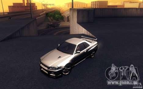 Nissan Skyline GTR R34 VSpecII für GTA San Andreas
